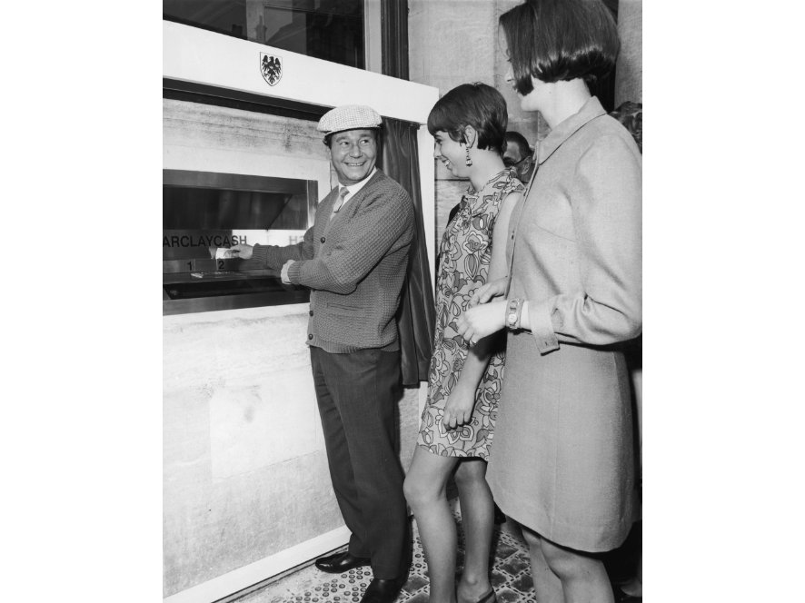 Barclays Bank's first cash-dispensing machine