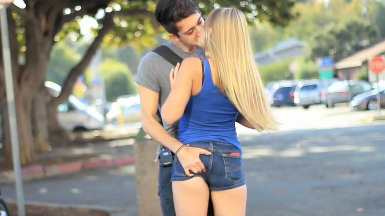 Dating girls prank kiss