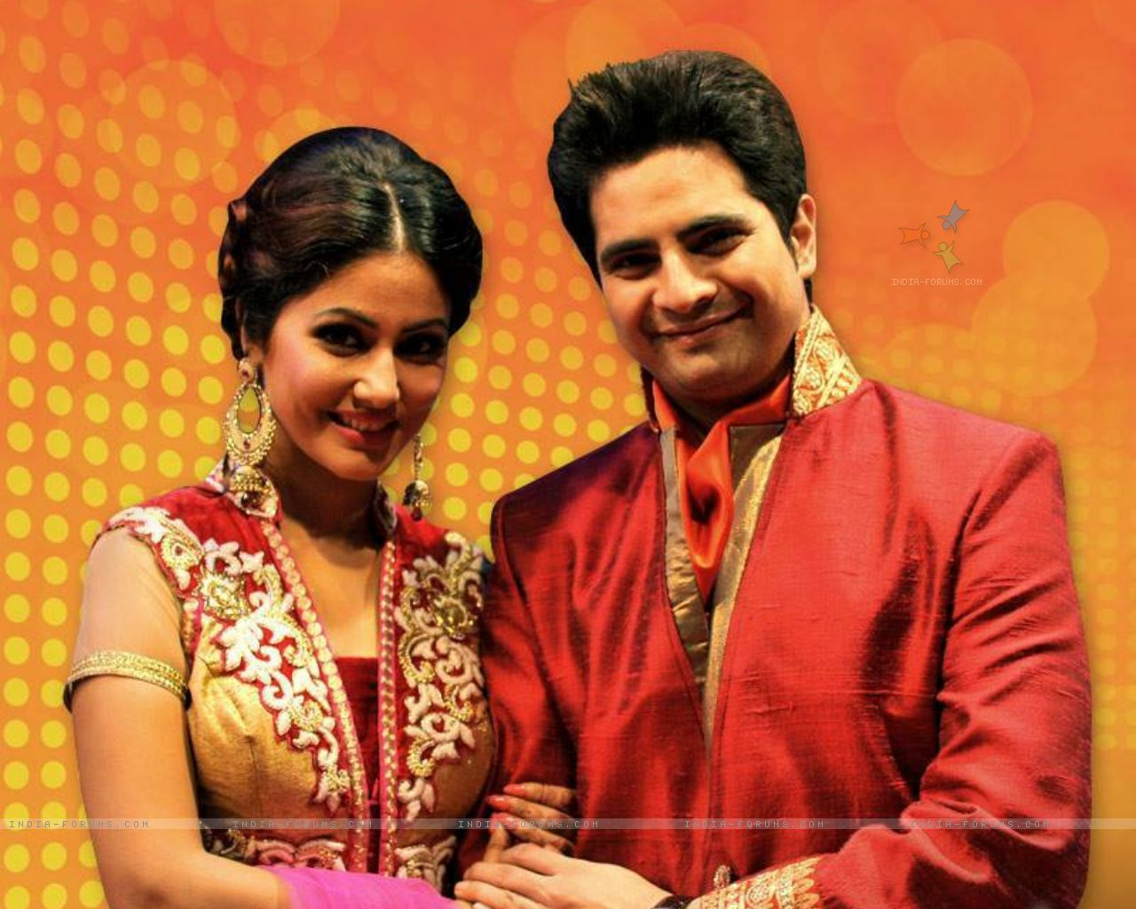 Hina khan and Karan Mehra