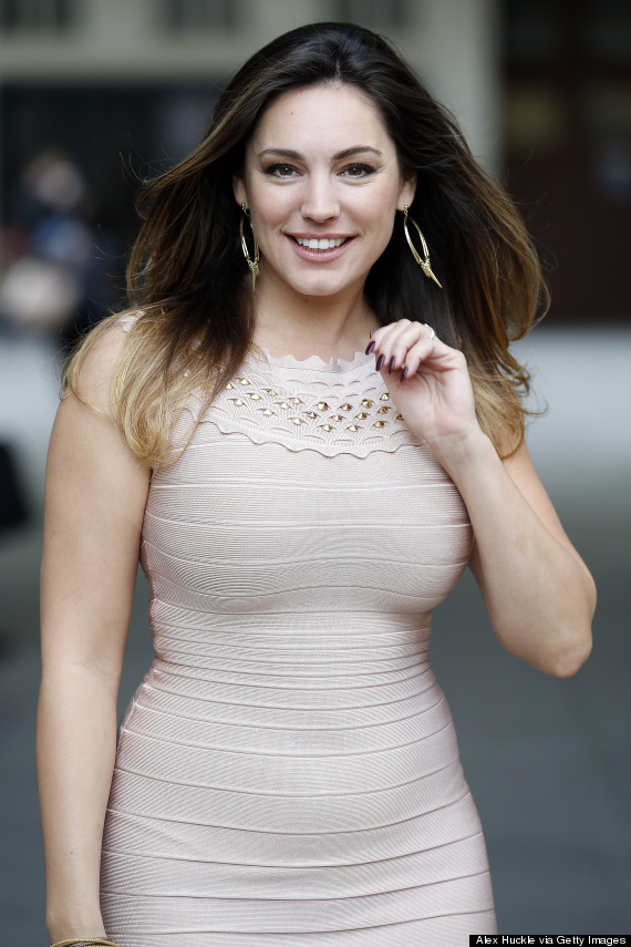 LONDON, UNITED KINGDOM - SEPTEMBER 9: Kelly Brook seen arriving at the BBC Radio 1 Studios on September 9, 2014 in London, England. Photo by Alex Huckle/GC Images)